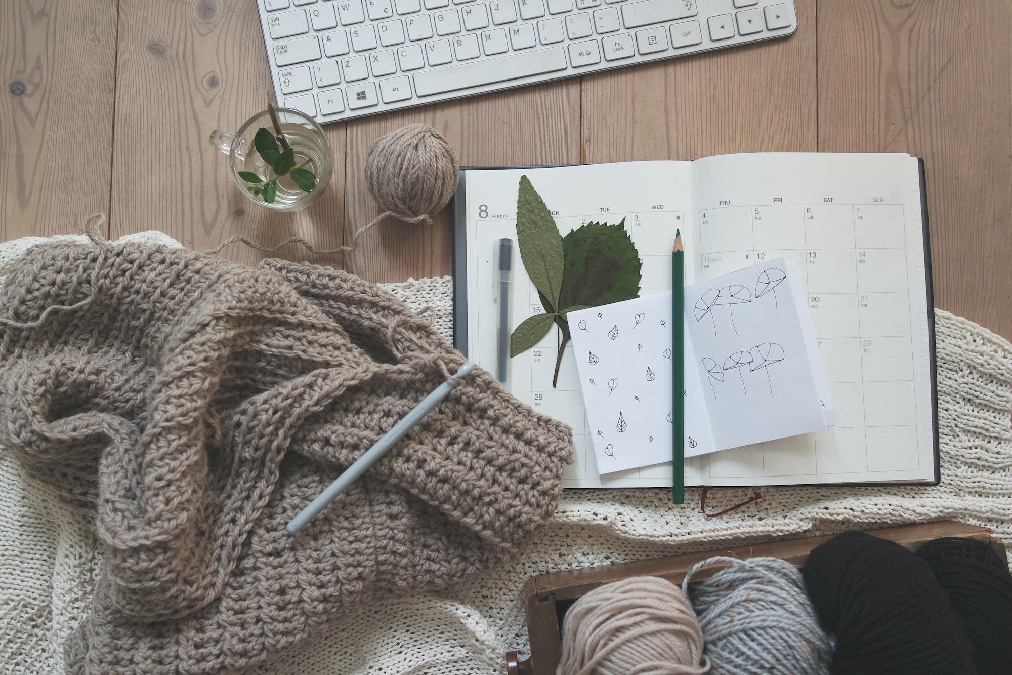 Crochet tools notebook