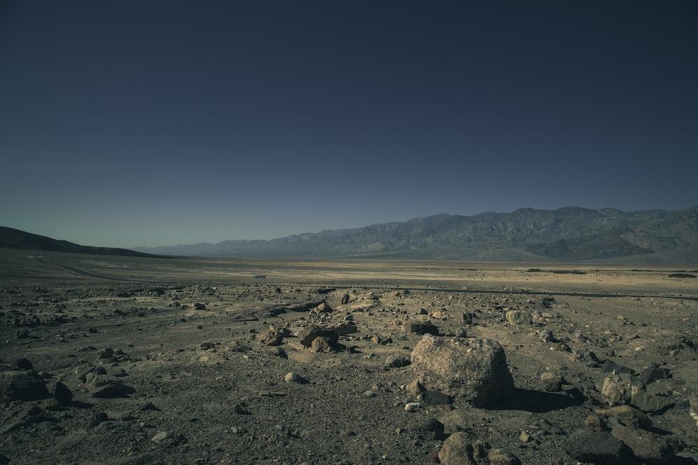 black rock on desert