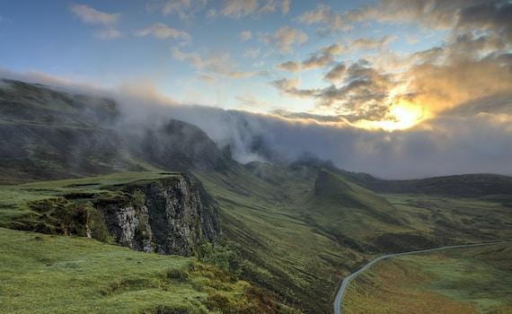 foggy mountain summit