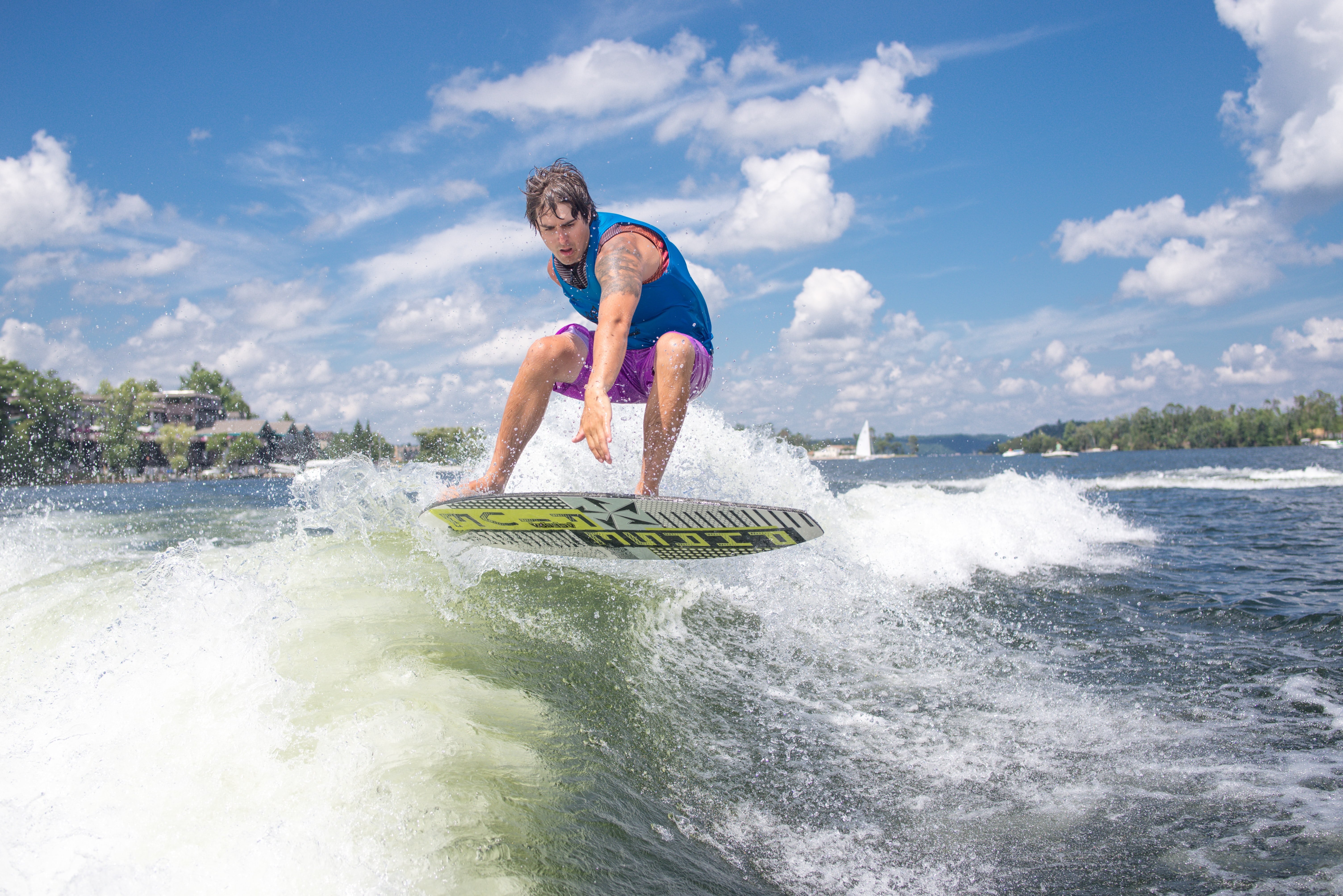 A man surfing the ocean at Gull Lake
