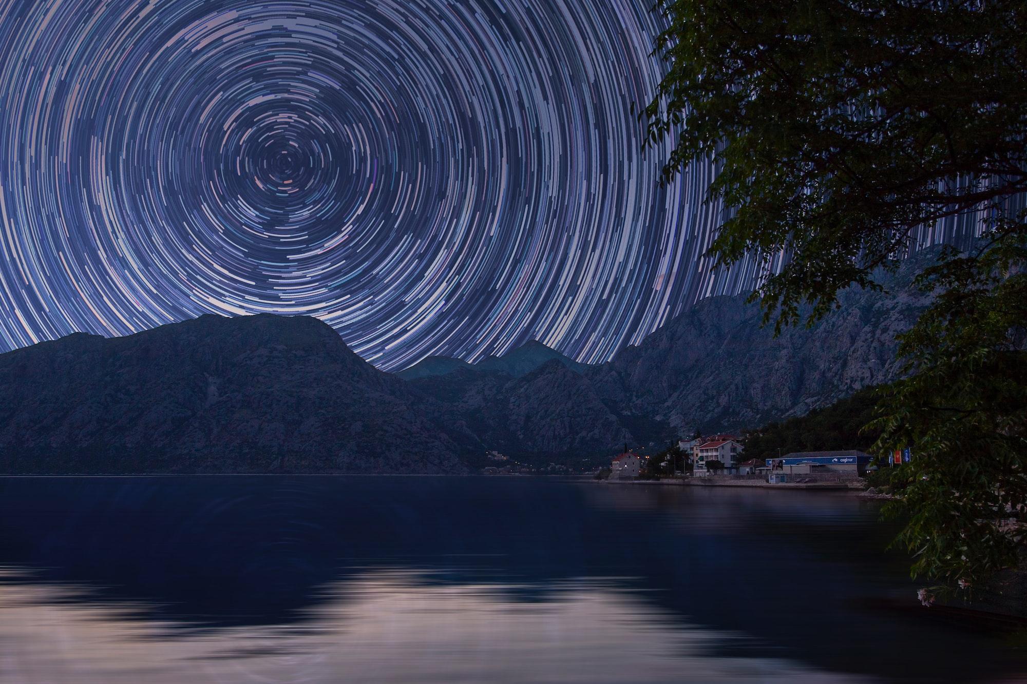 Фотография звездных следов