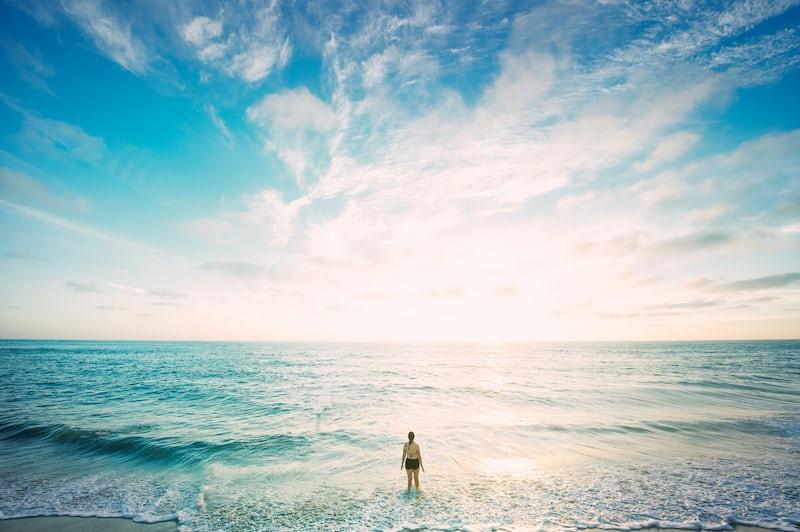 自由が広がる海