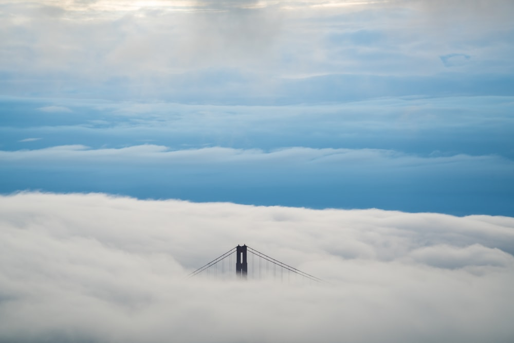 Golden Gate Bridge cover with white cloudy skies