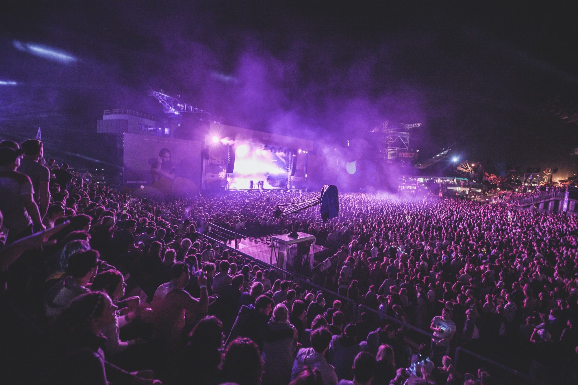 Purple lights and smoke