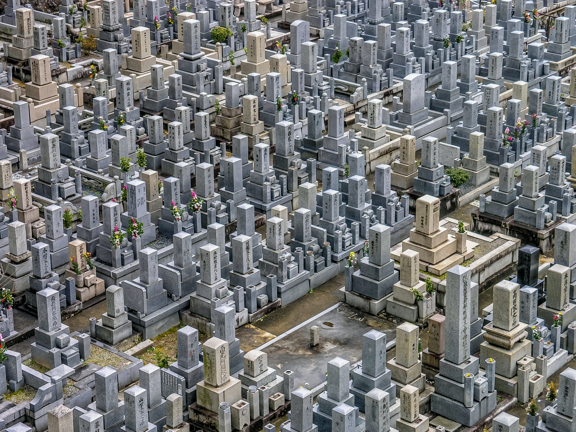 aerial photo of gray and white concrete monuments at daytime