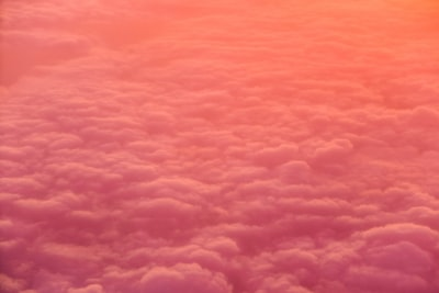 sea of white clouds pattern zoom background