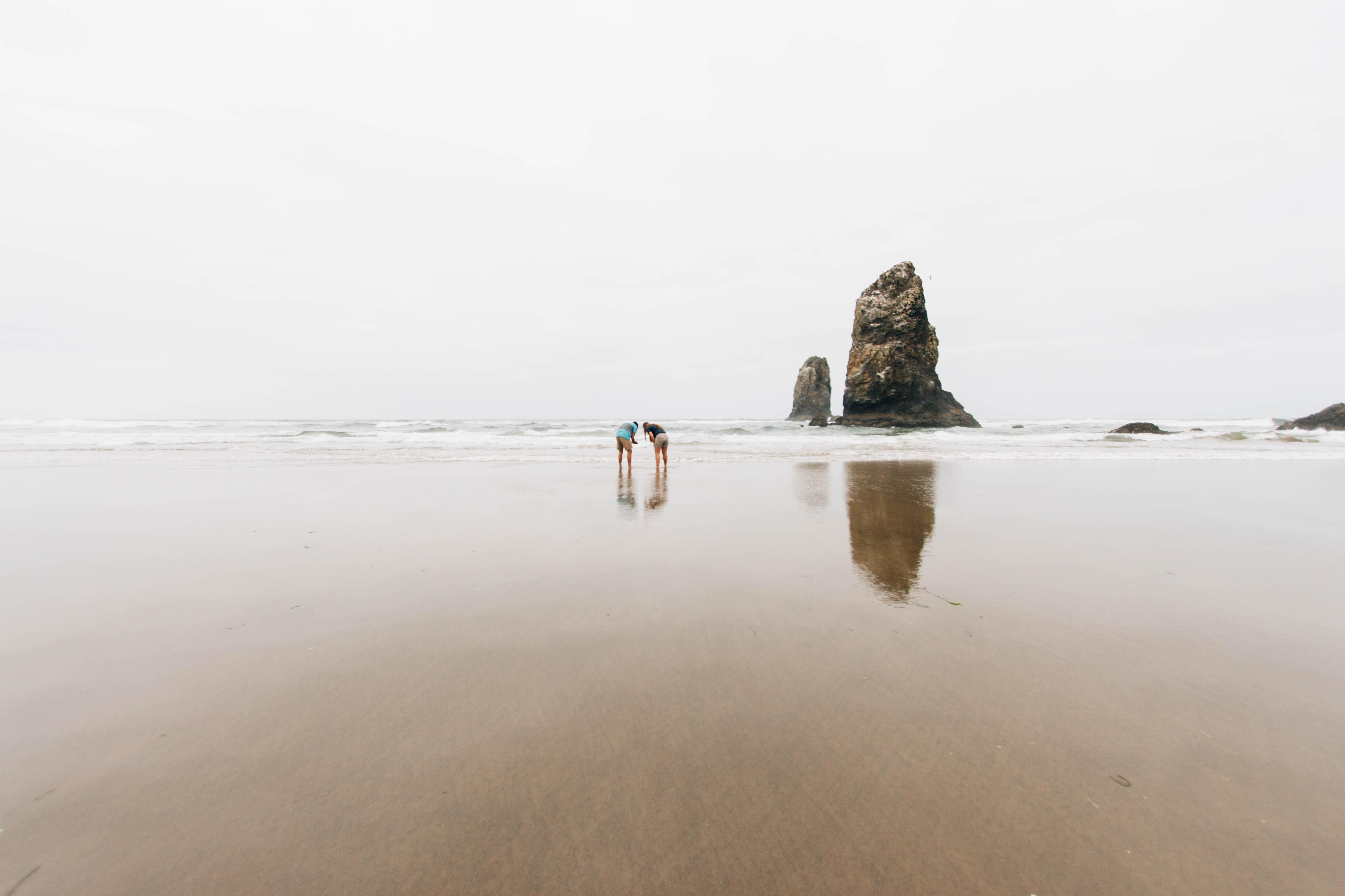 rock formation on shoreline