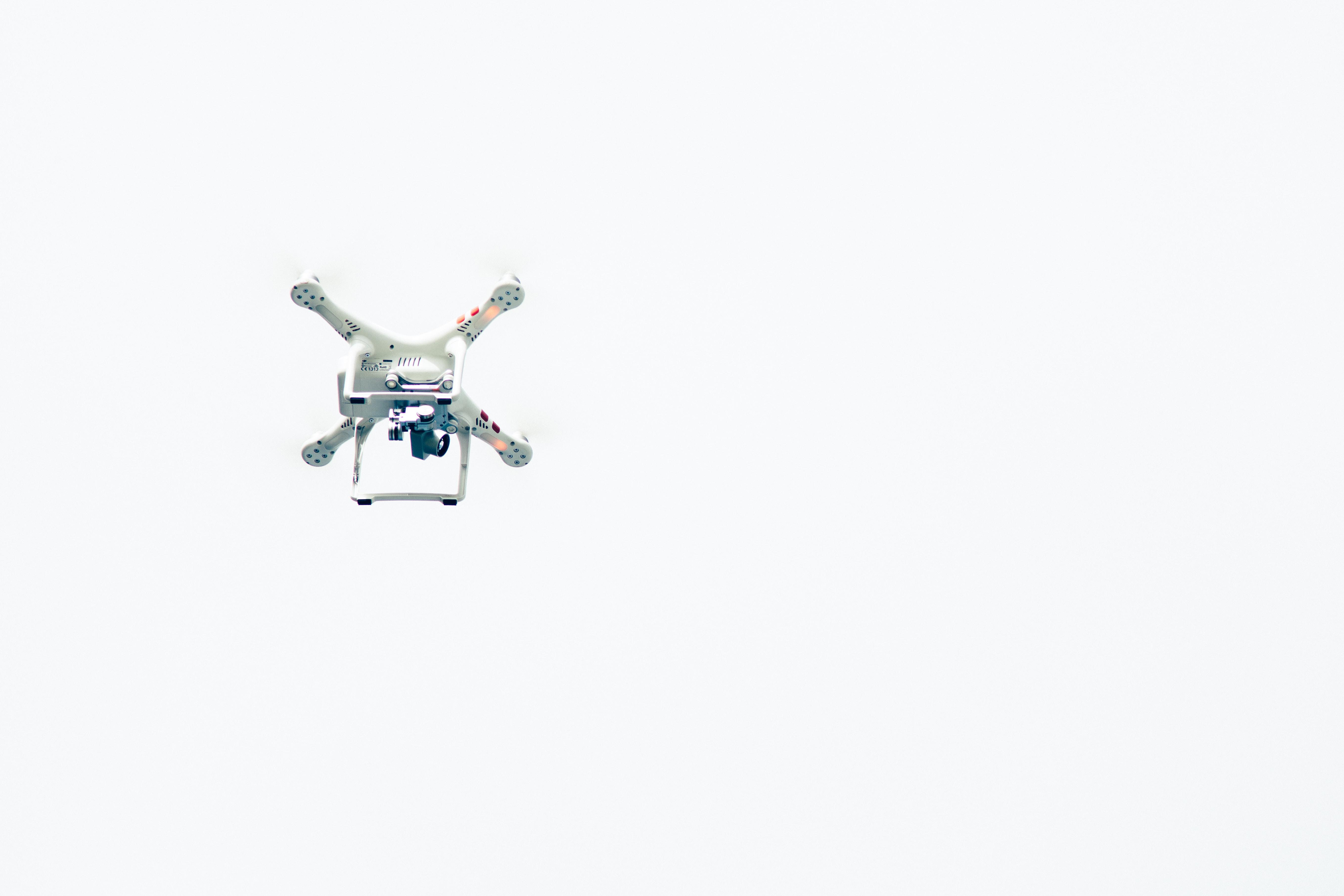 white quadcopter