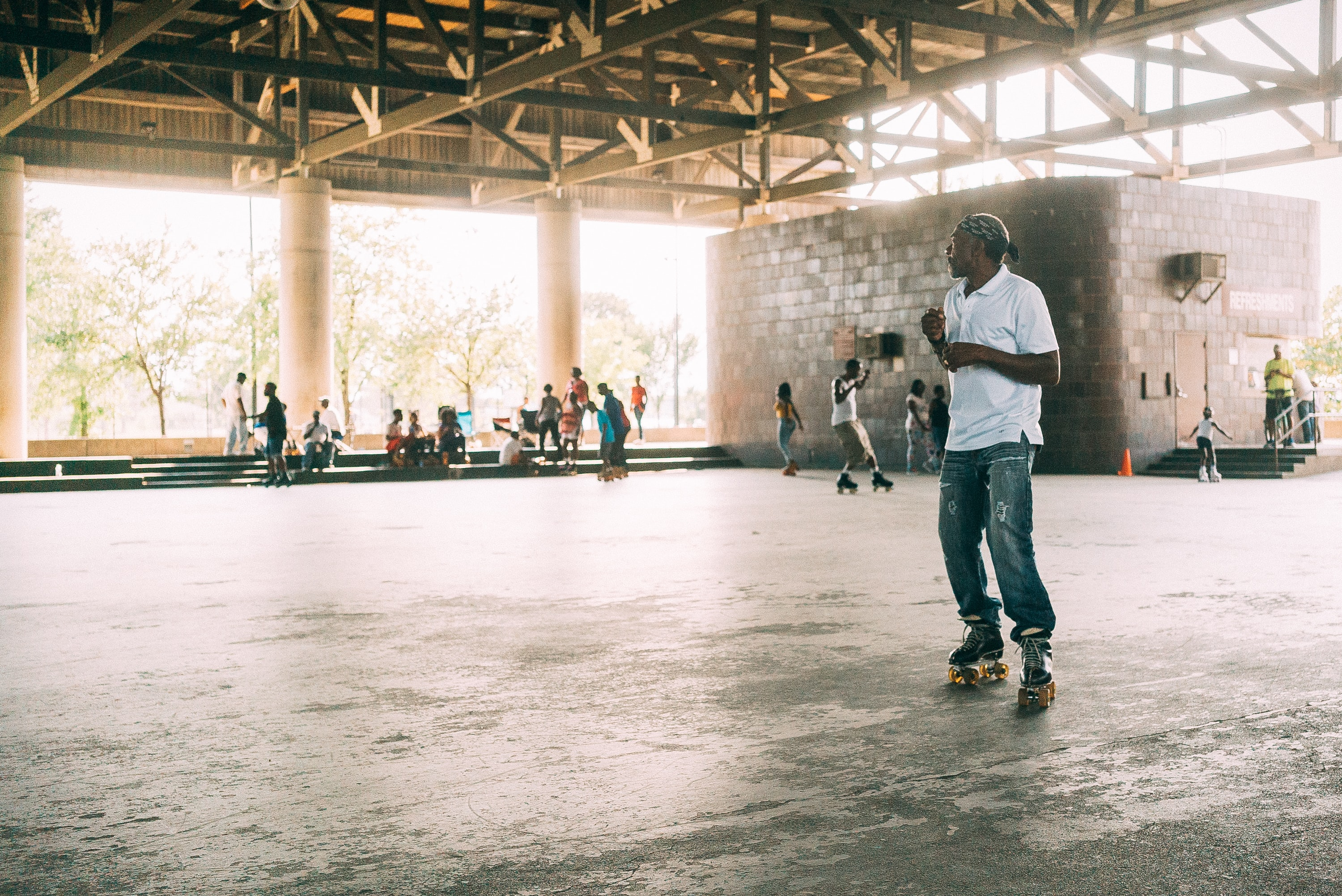 A roller skating crew.