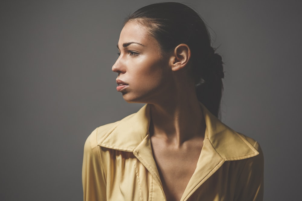 photo of woman looking right