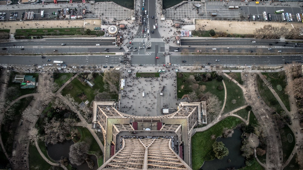 aerial view photography of Eiffel Tower