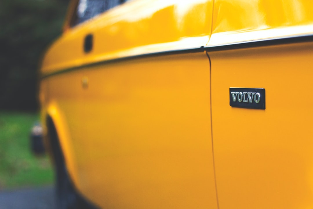 Yellow volvo close up
