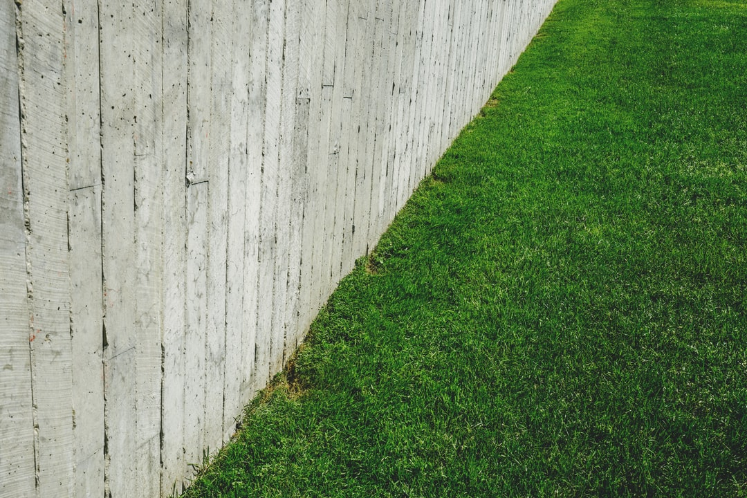 Fenced in grass