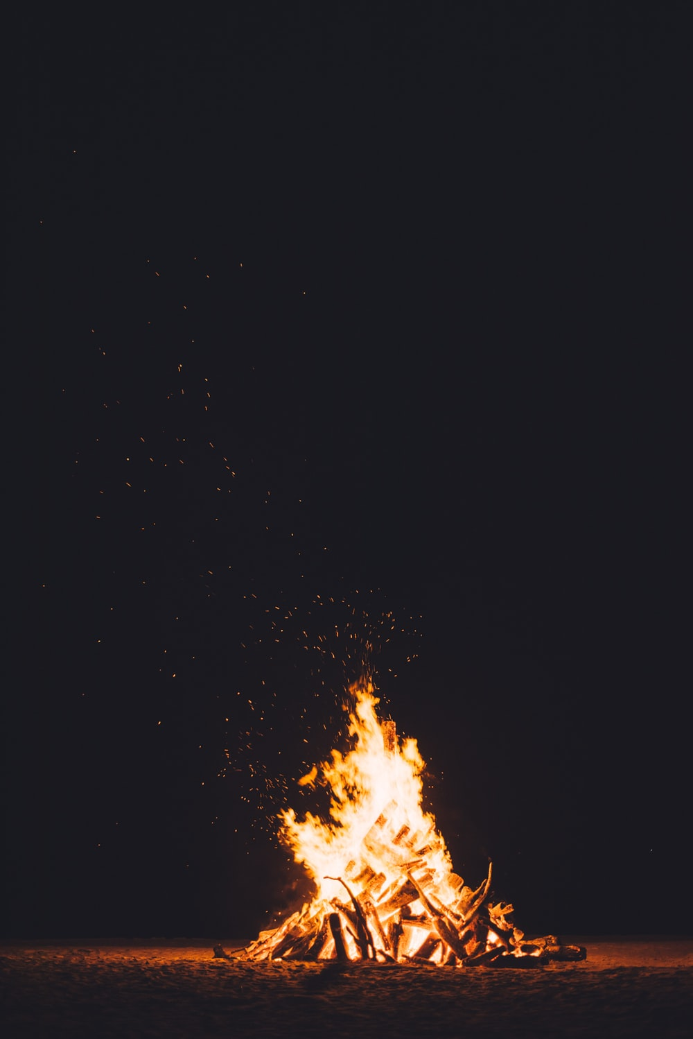 photography of burning camp fire