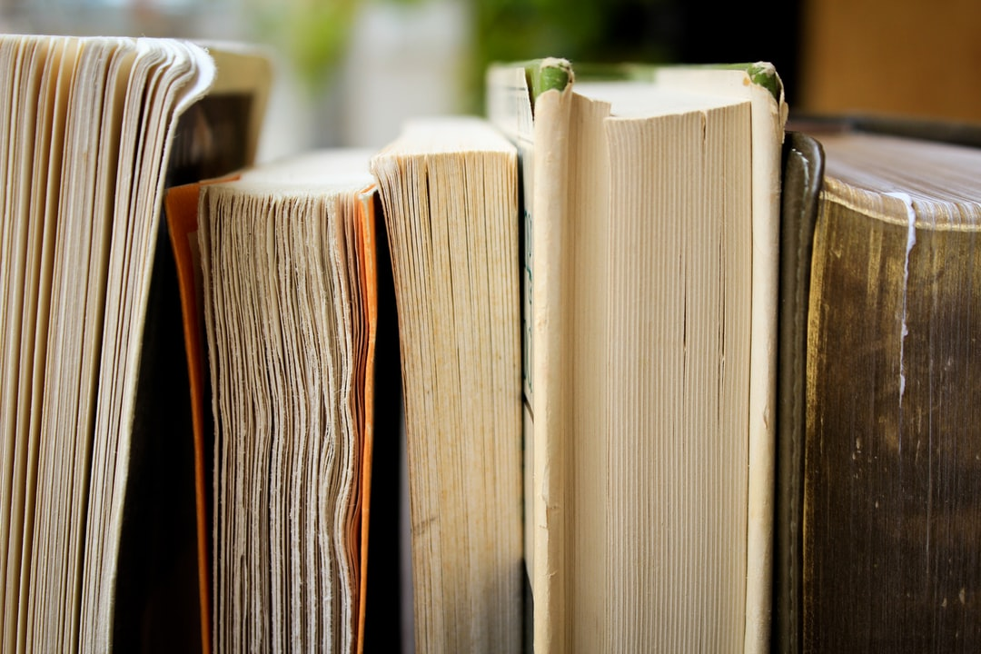 Weathered books