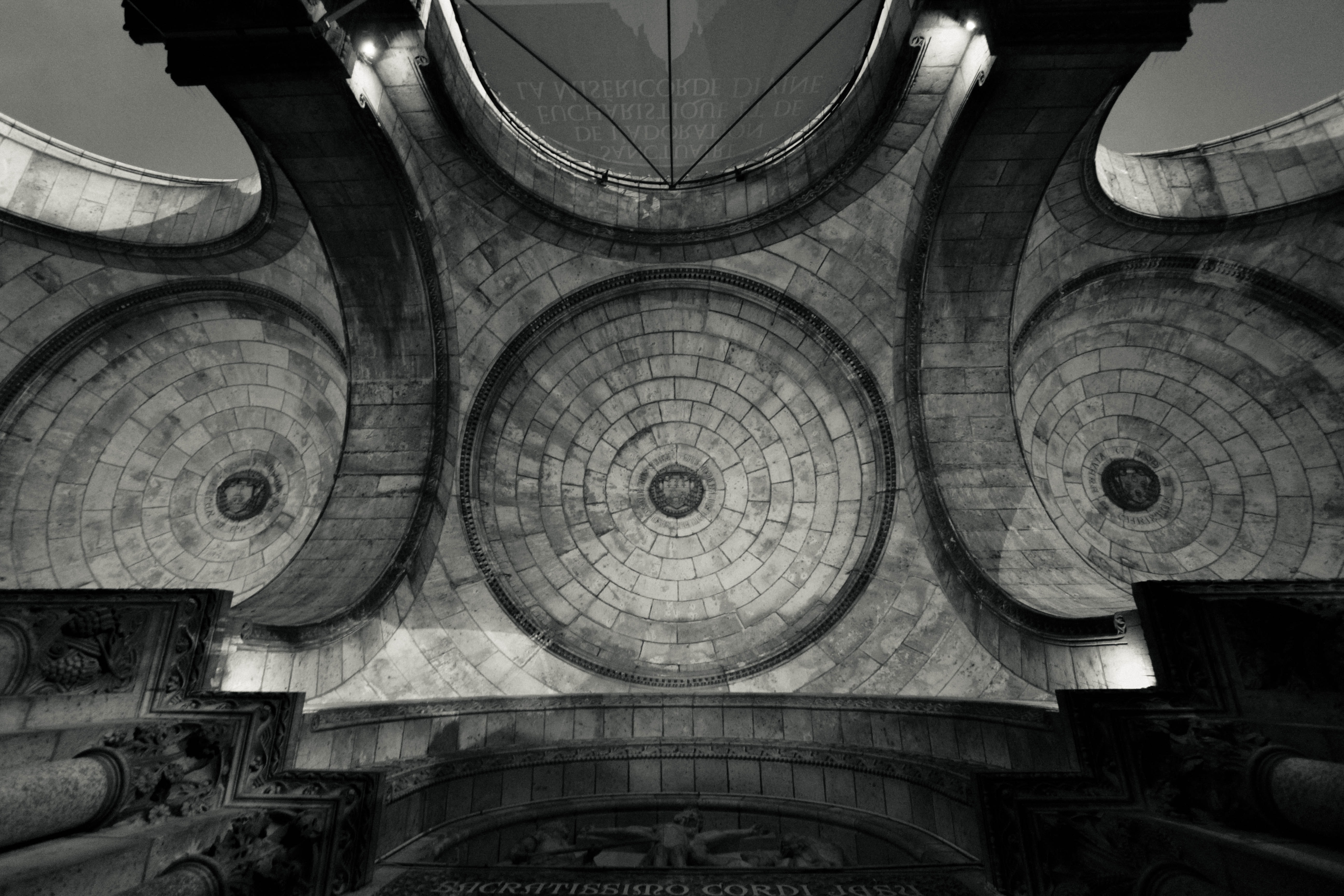Circular architecture in a building in France.