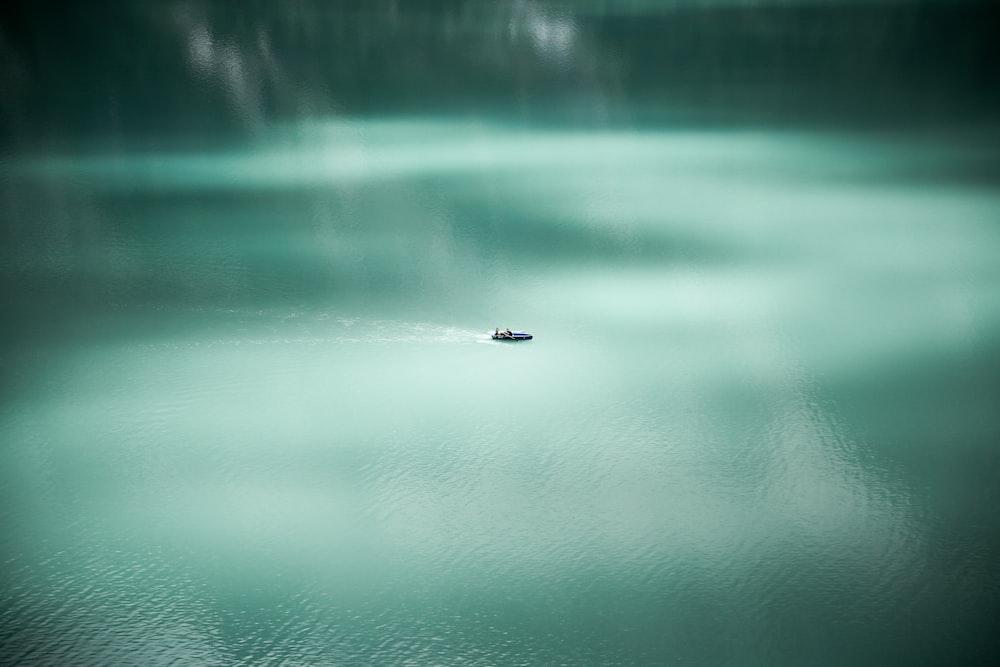 aerial photography of sailing boat at sea