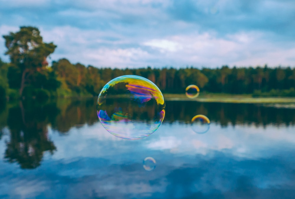 floating bubble during daytime