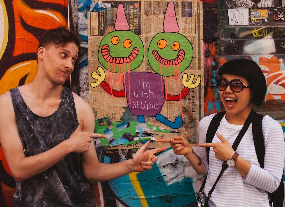couple near mural