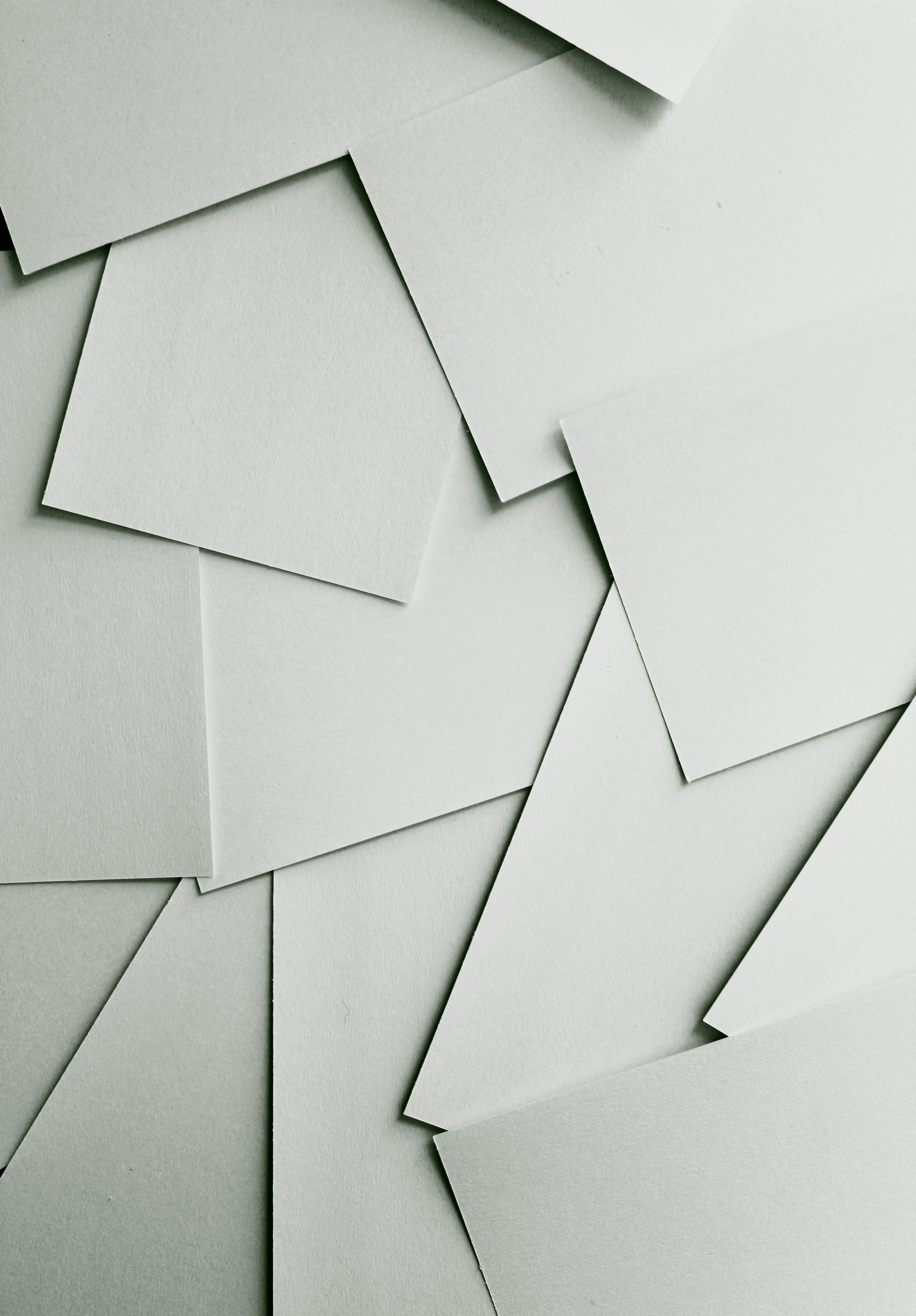 Scattered white paper