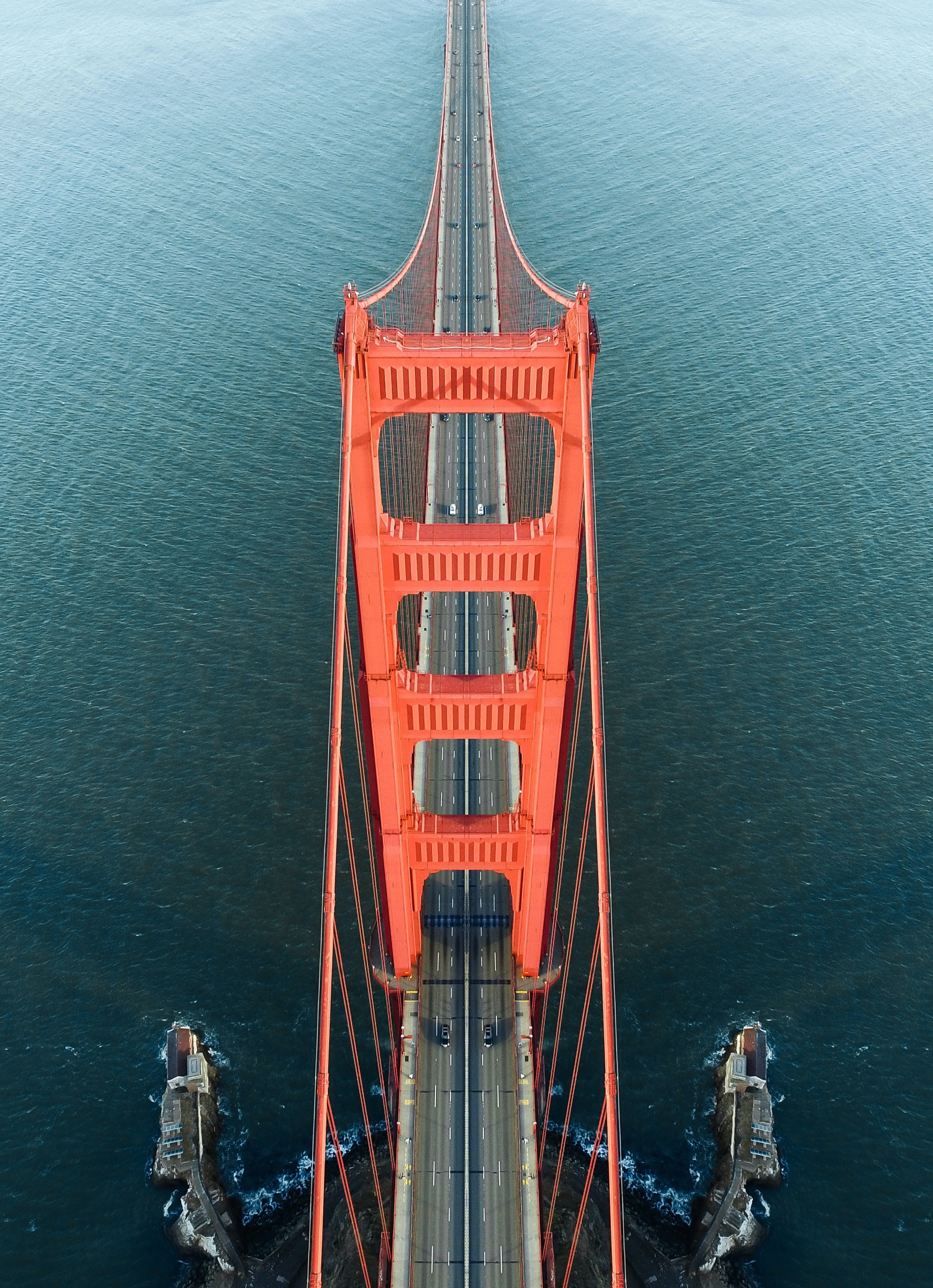 aerial photo of Golden Gate Bridge during daytime