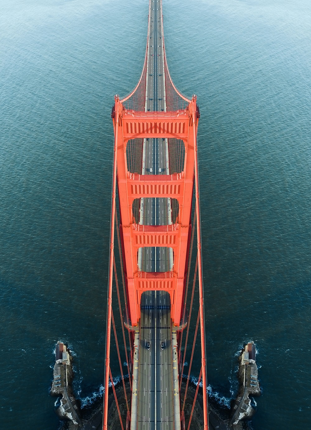 aerial photo of Golden Gate Bridge during daytime