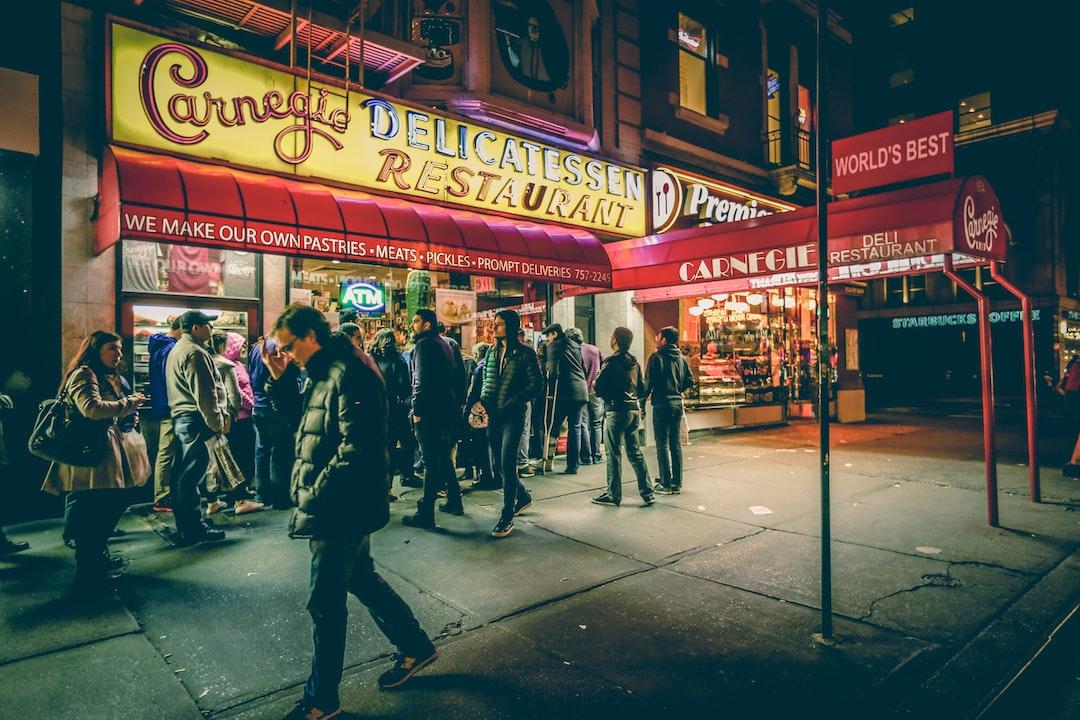 Busy New York City restaurant
