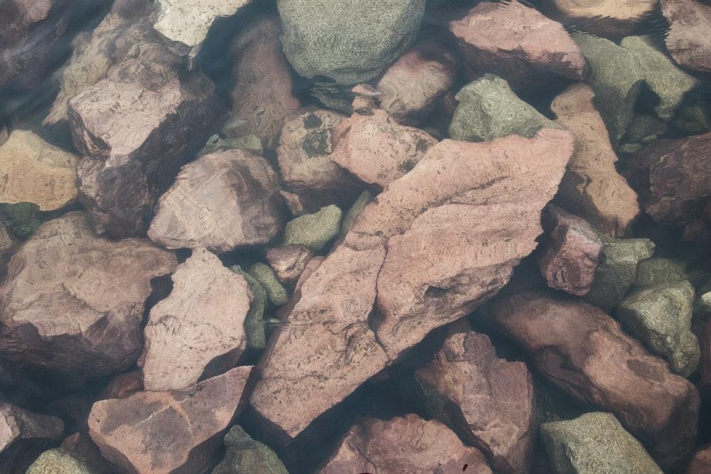 brown and gray rocks