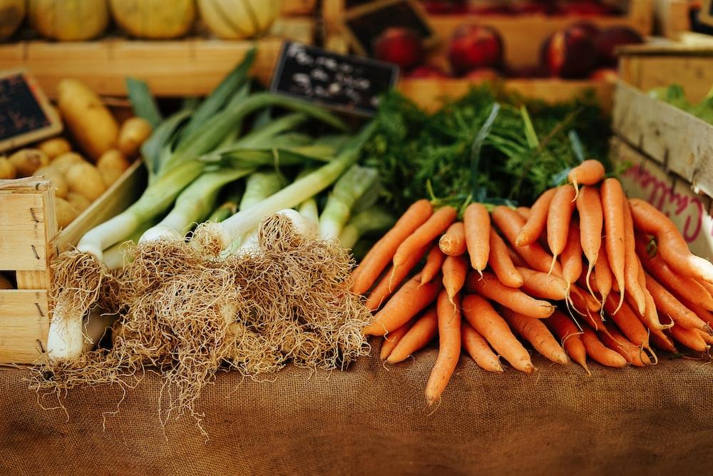 carrots and leeks