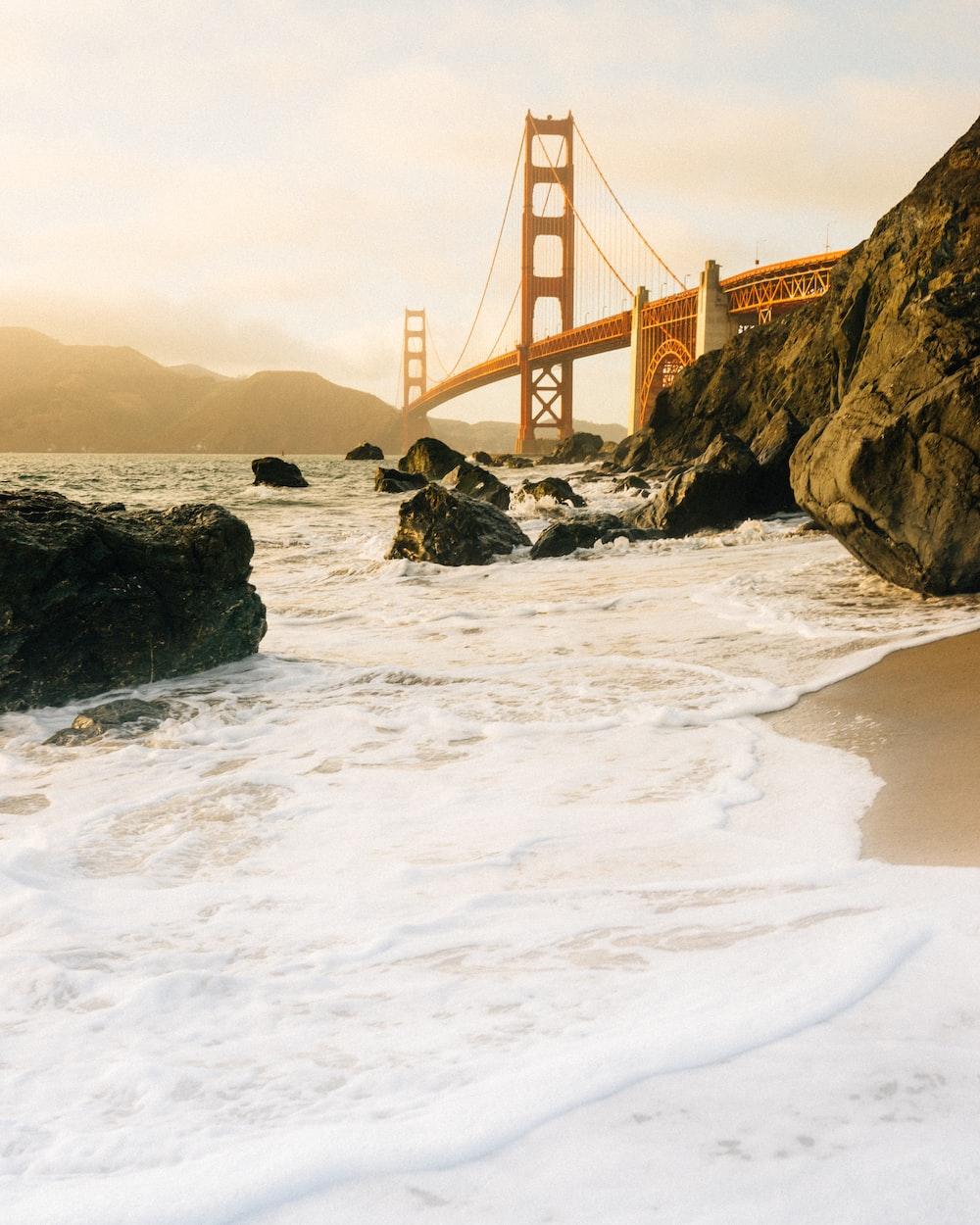 seashore near Golden Gate Bridge