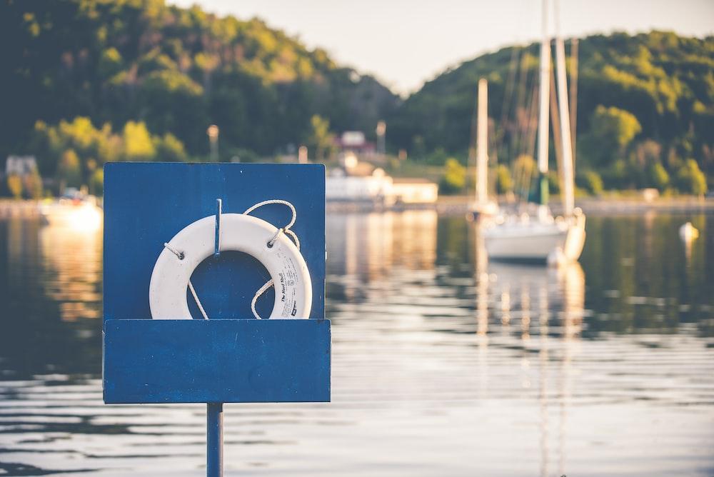 lifebuoy near the body of water
