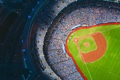 aerial photography of baseball stadium baseball teams background