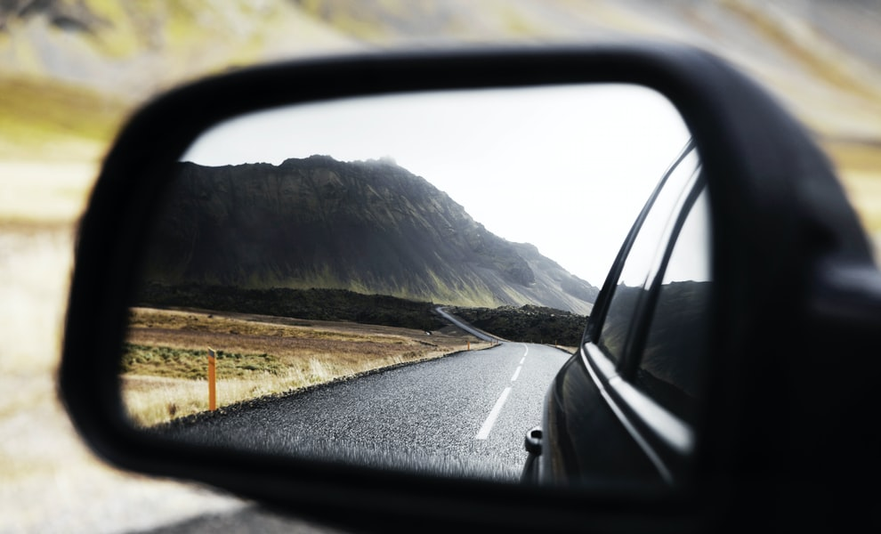 Rear view mirror Snæfellsjökull by Kalle Kortelainen