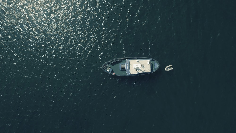 aerial photography of sailing boat in water