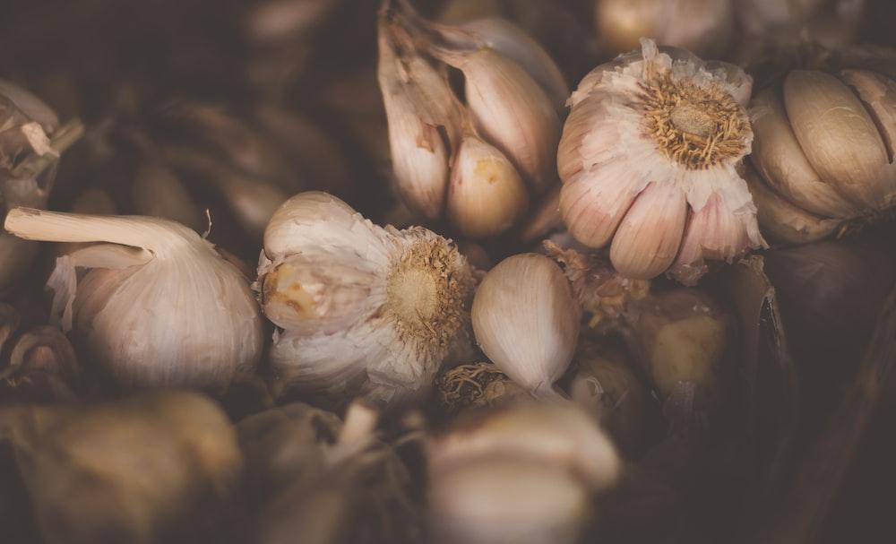 assorted garlics