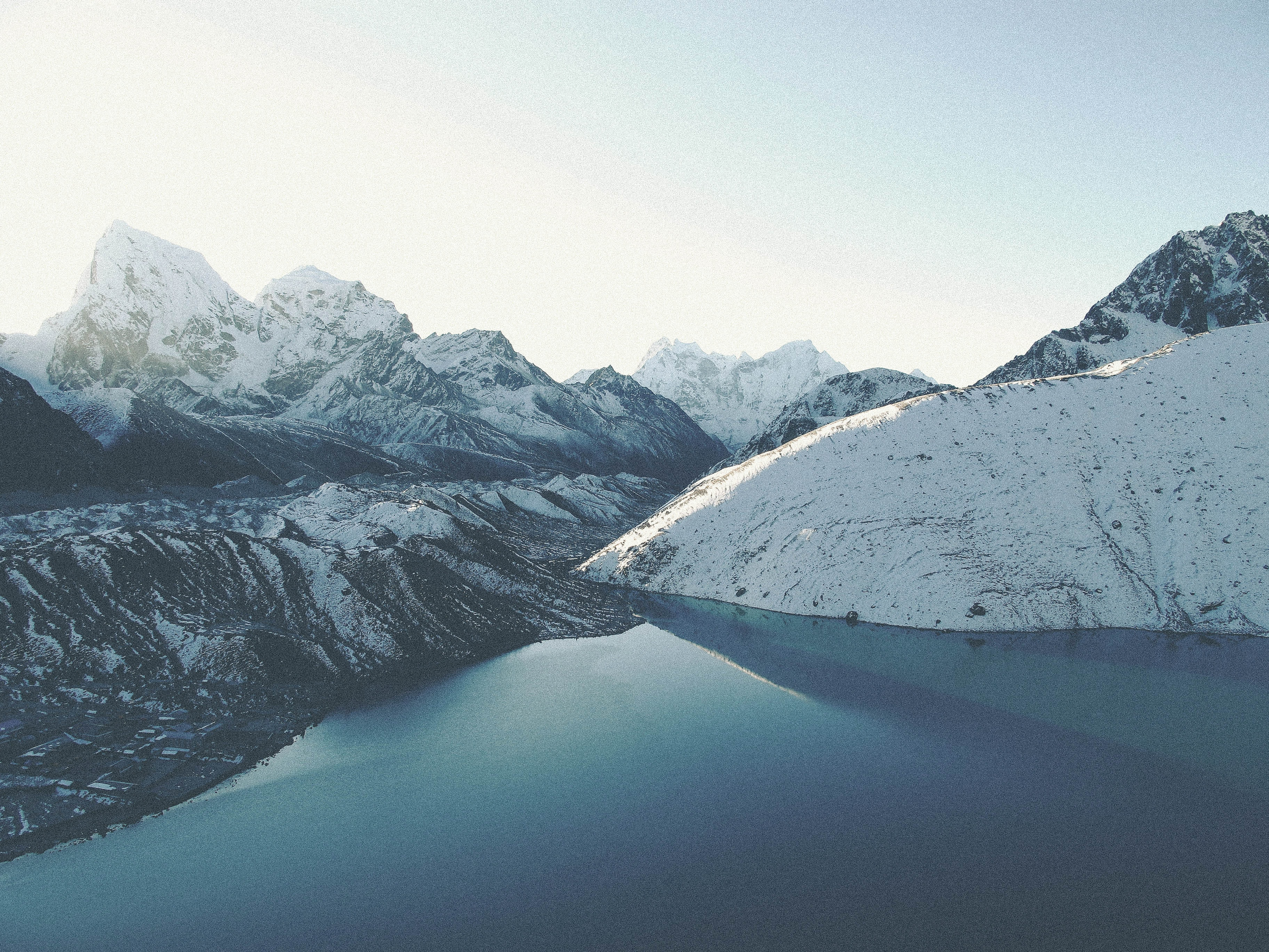 ice covered mountain photography