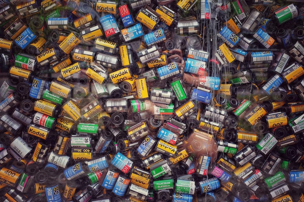 assorted-color cartridges