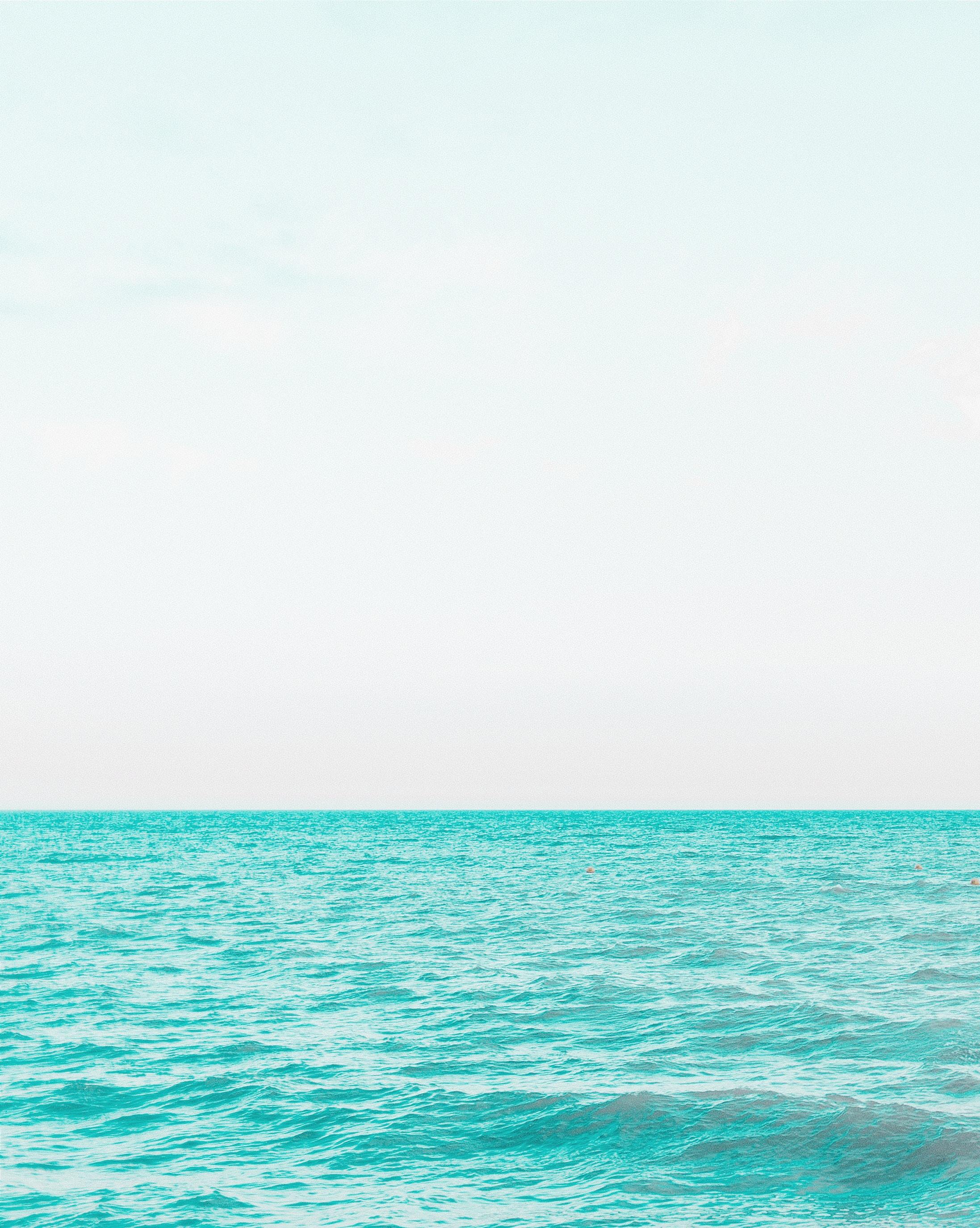 Teal blue waves.