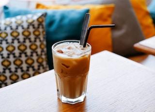 iced juice on table