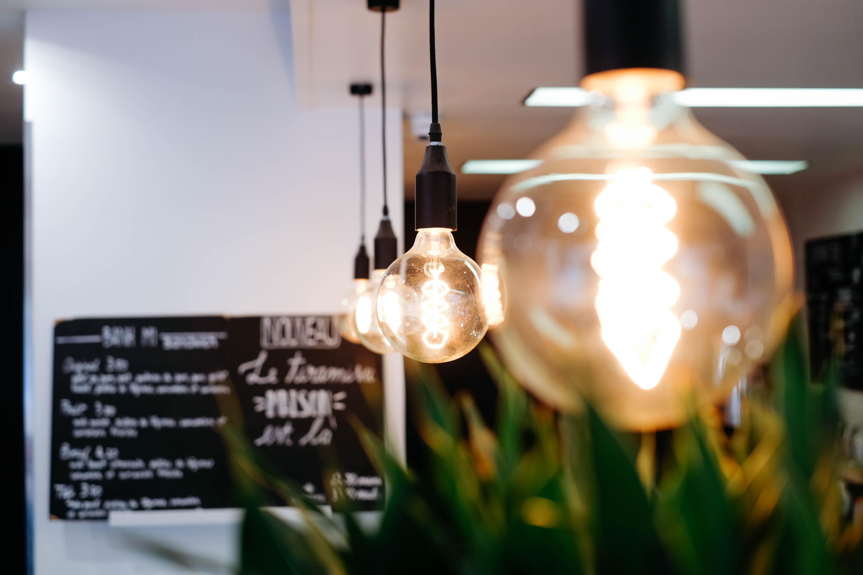clear glass lightened bulbs