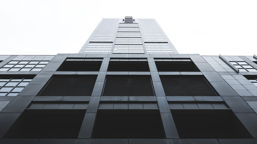 low angle photography of high-rise building