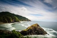 timelapse photography of island