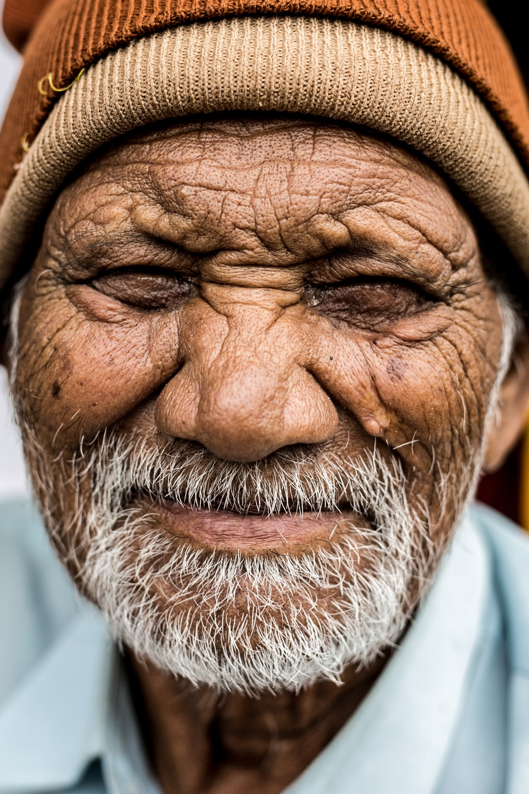 Old man with beanie