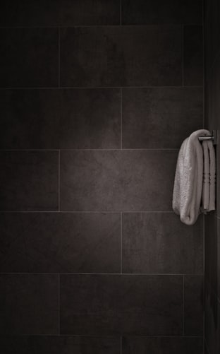 towel rack in a shower