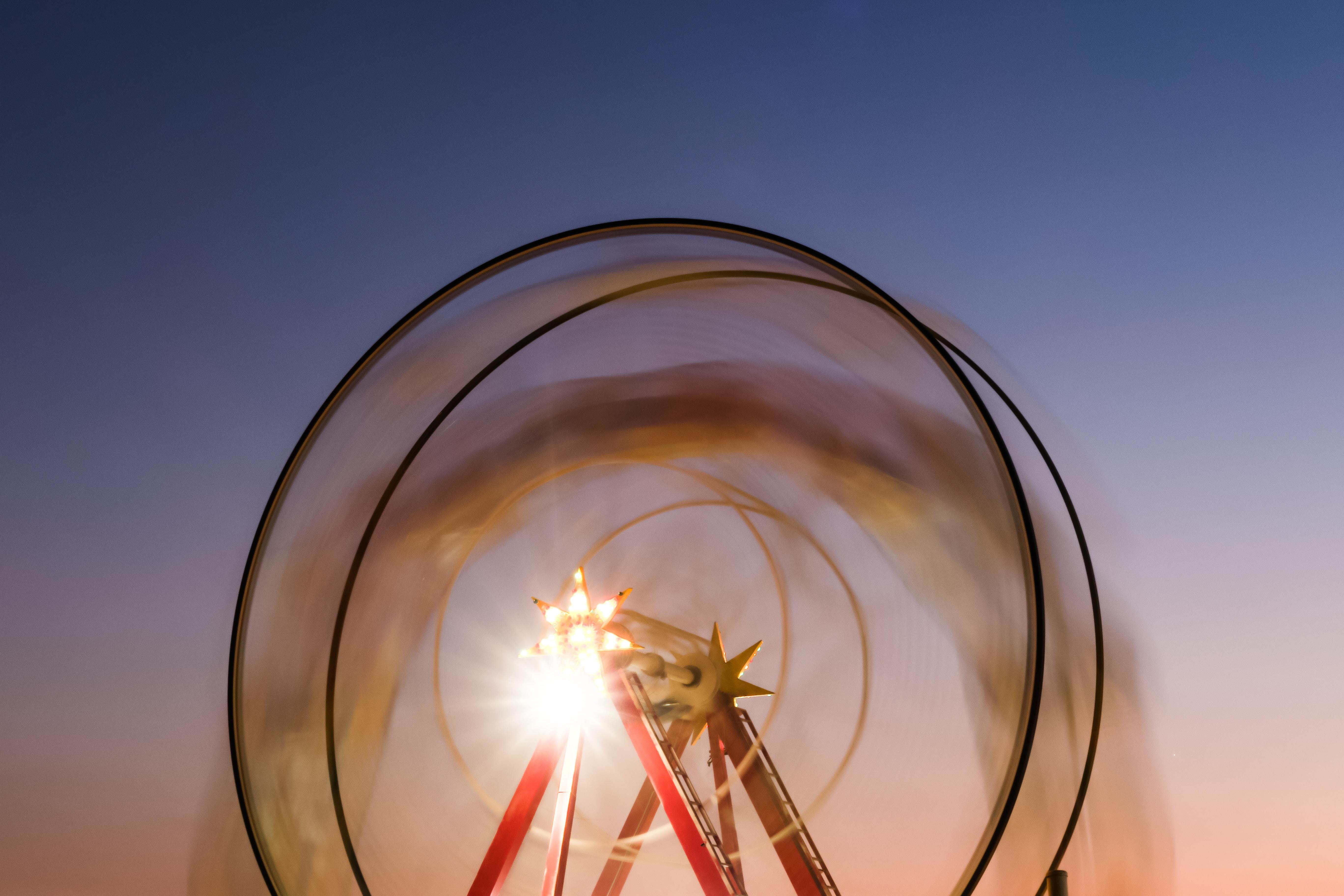 A ferris wheel in Greece's third-largest city, Patras