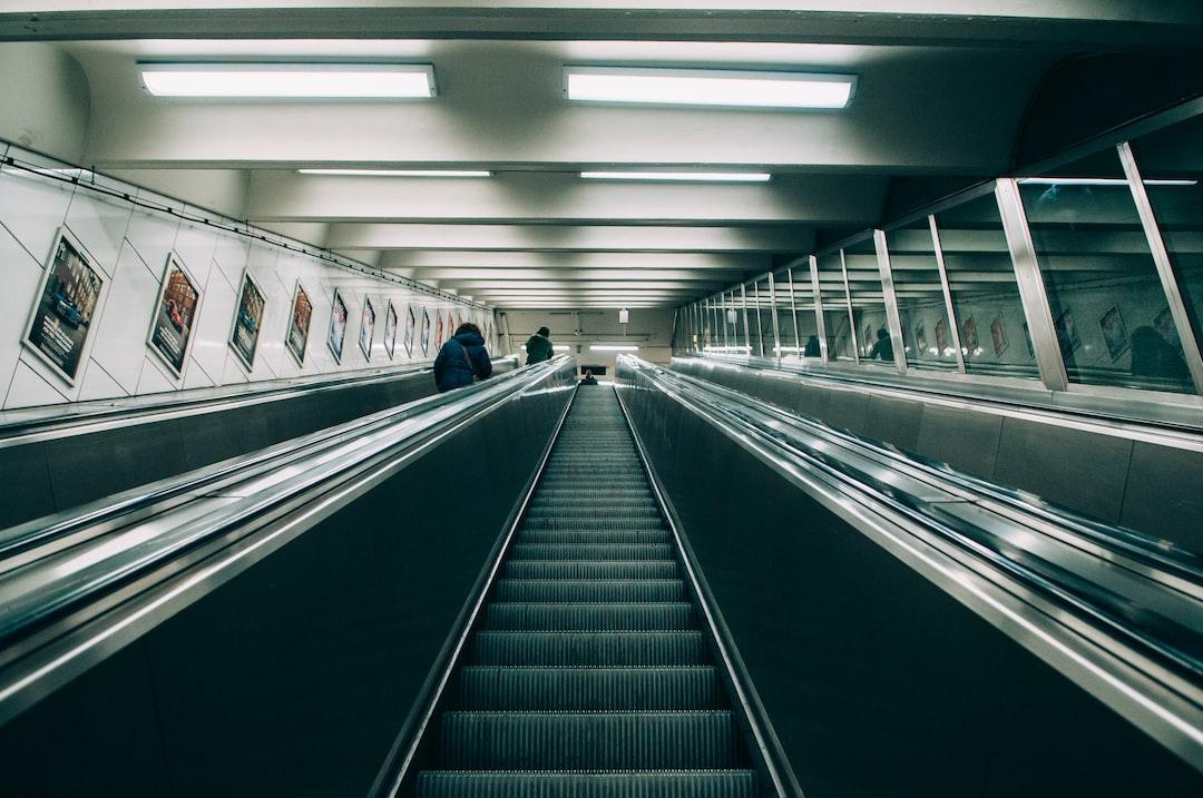 Steep escalator ascent