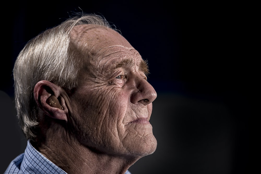 side view of man's face