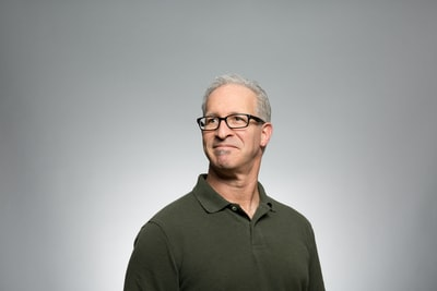Gray-haired man portrait