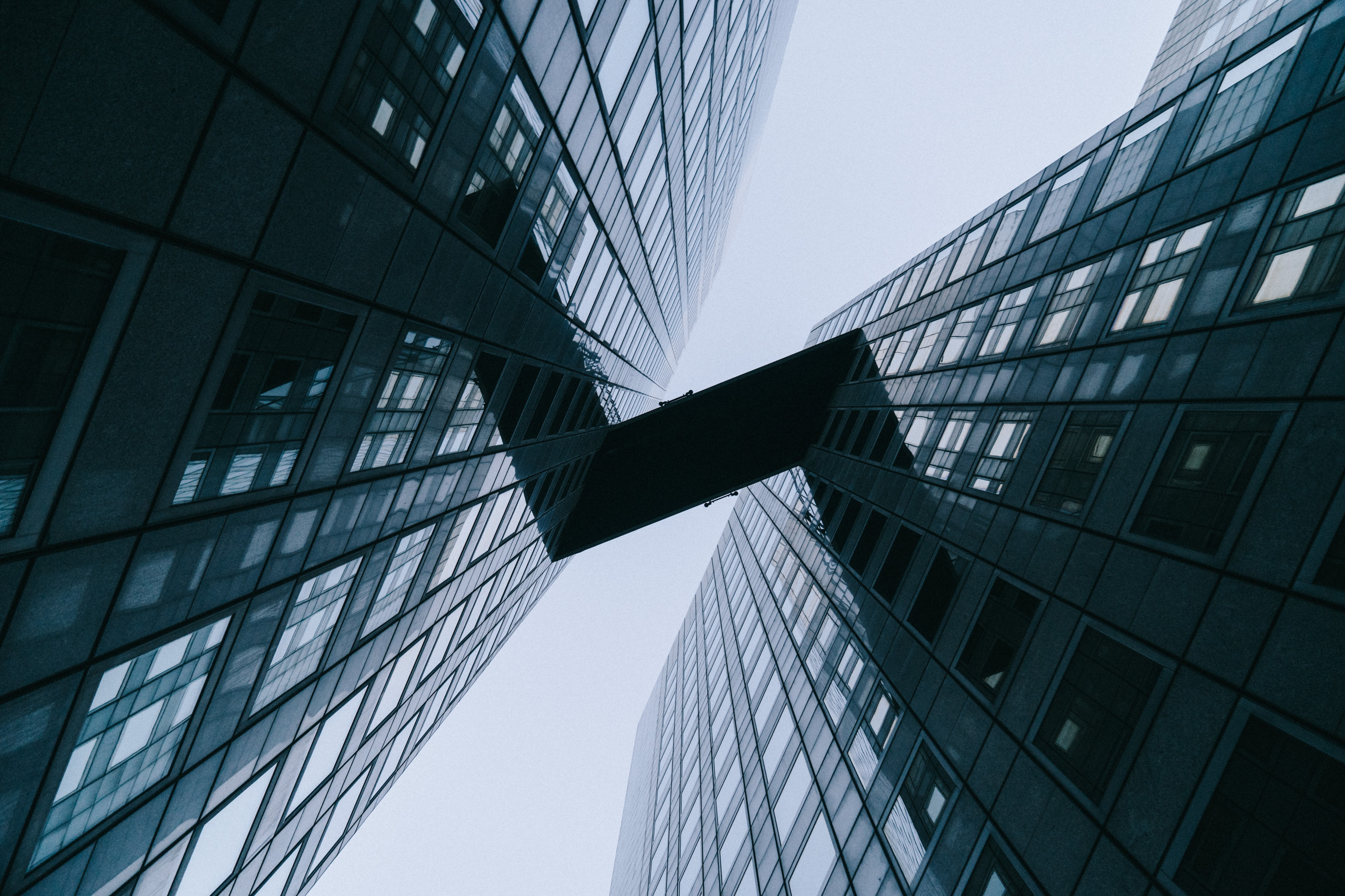 low angle photography of highrise building