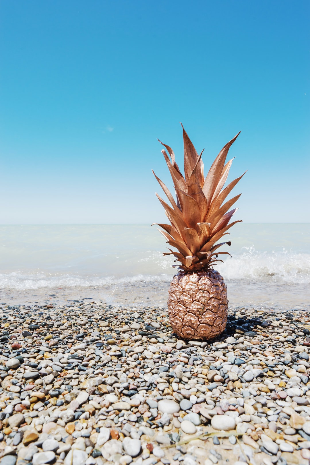 painted pineapple at beach